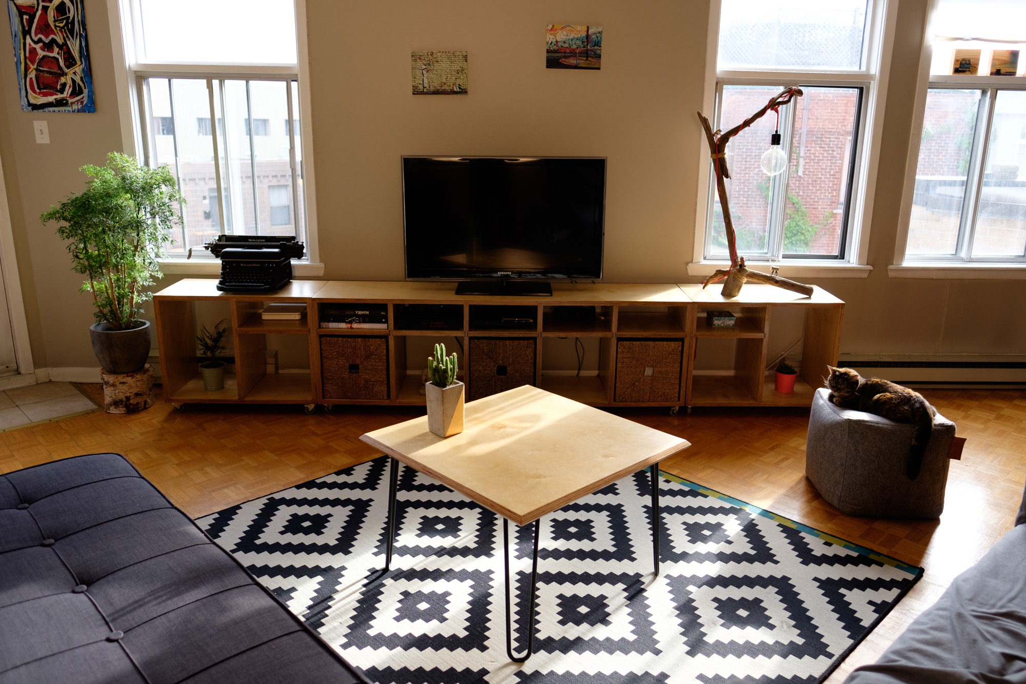 Outgrowing Ikea Building a modular TV Stand and coffee table
